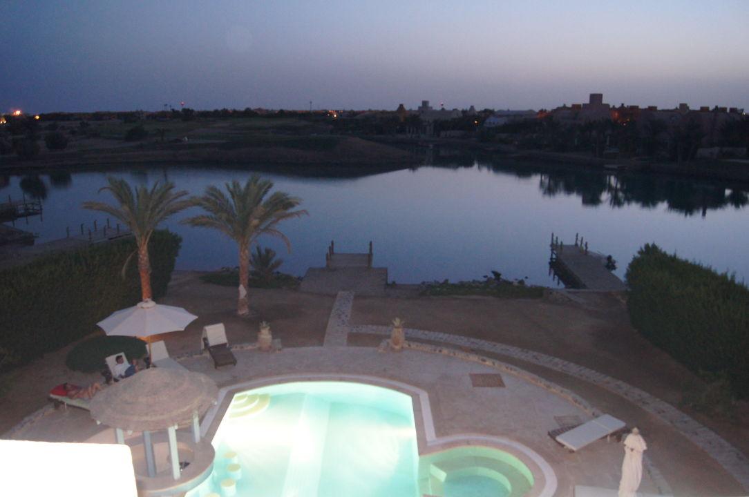 Blick zum Golfplatz Ferienhaus Golf Villa 65