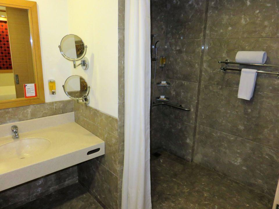 Behindertengerechtes Badzimmer Red Fox Hotel Delhi Airport