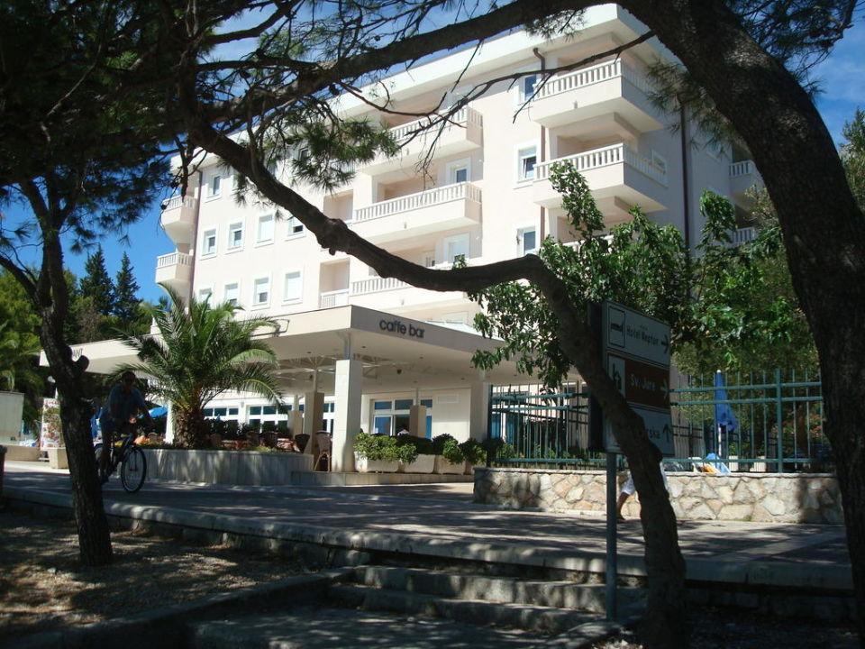 Blick vom Strand Hotel Tamaris