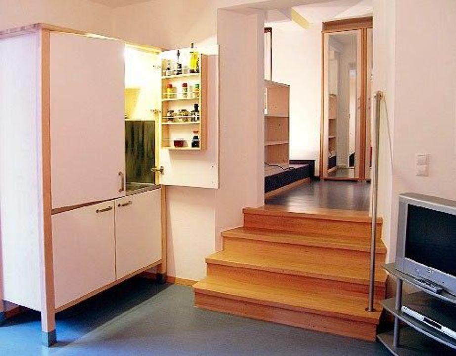 Wohnzimmer Apartment Zander Haus Rheinblick