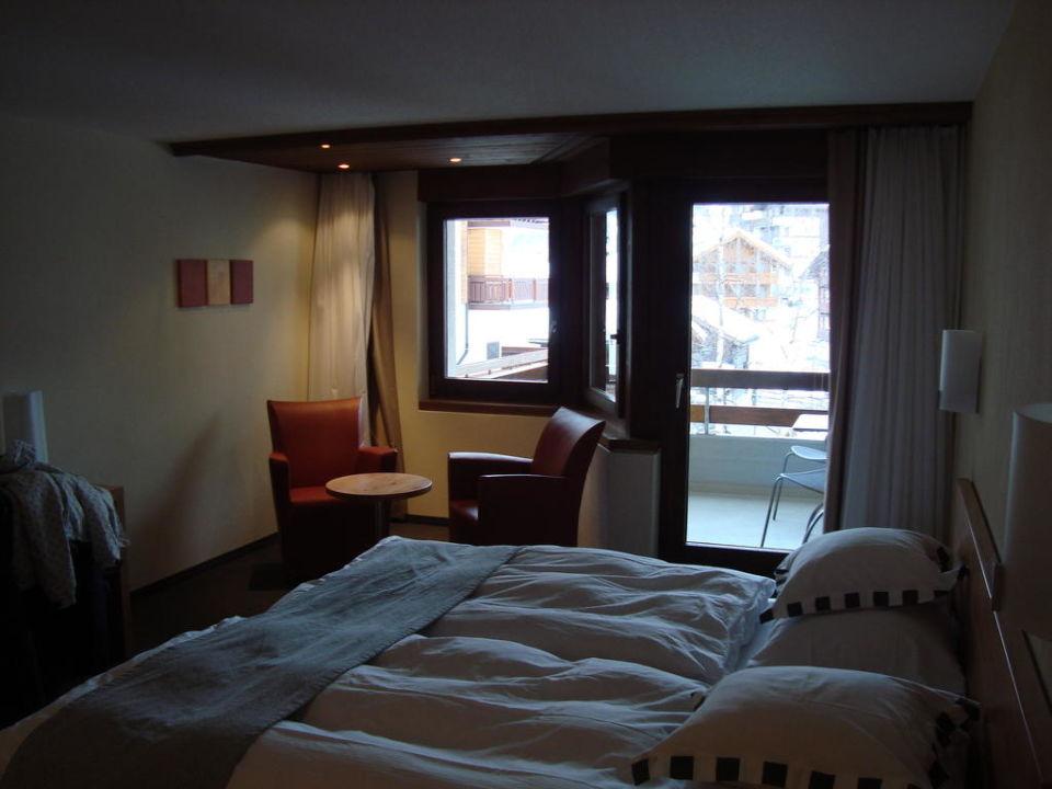 Vue chambre Hotel Allalin Saas-Fee