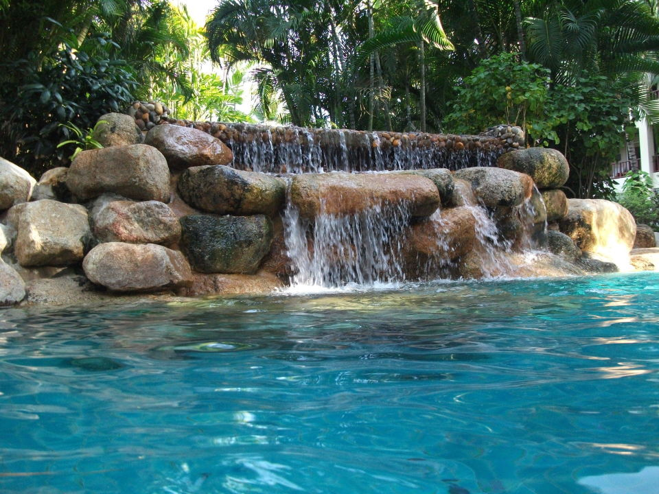 Wasserfall Im Pool Hyatt Regency Hua Hin Images