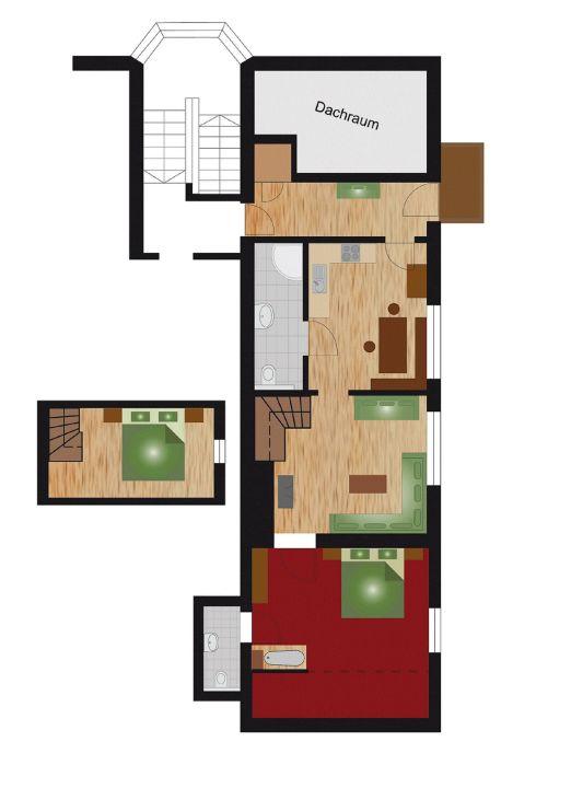 Grundriss Apartment Kniebiss mit Bergblick Apartment Fernerkogel