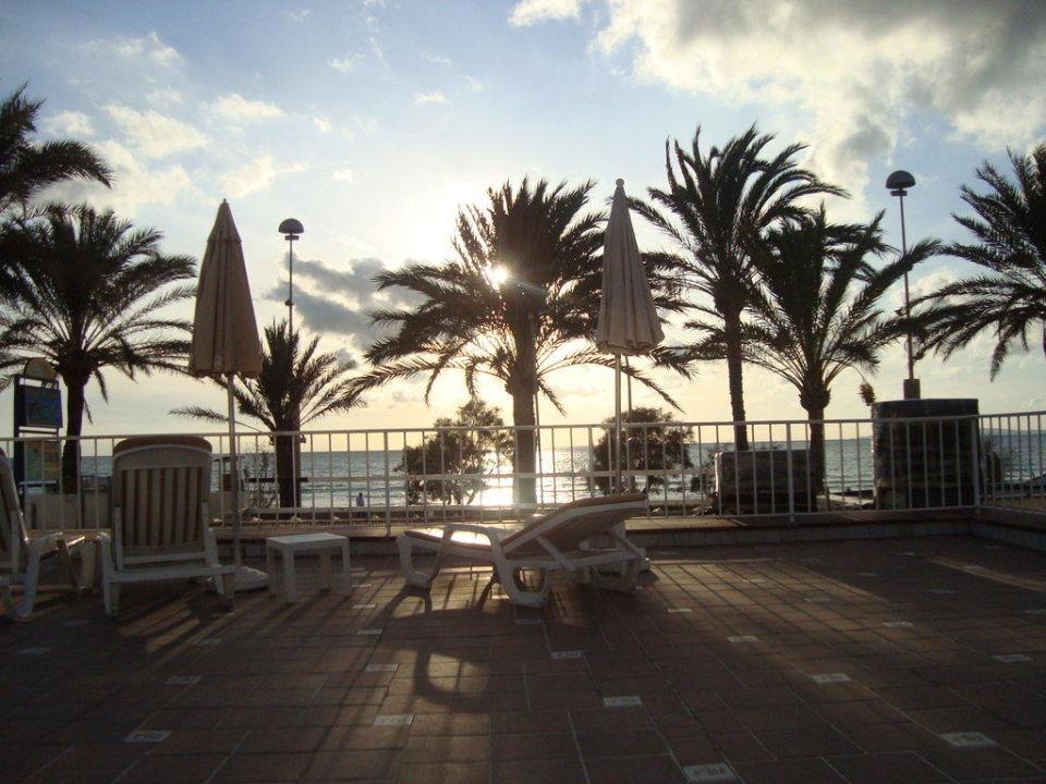 Blick von der Terrasse auf das Meer Hotel Riu San Francisco