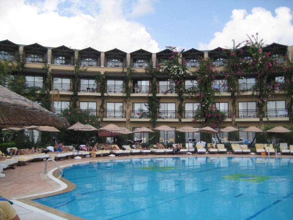 Blick aufs Hotel vom Strand aus Hotel Armas Labada