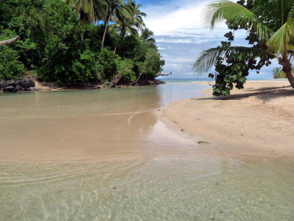 Lagune am Ende vom Playa Las Ballenas Grand Bahia Principe El Portillo