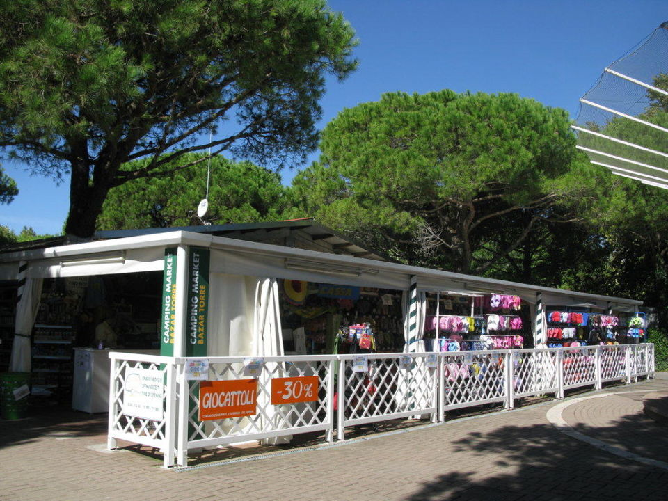 Campingshop in der Via Napoli Camping Union Lido
