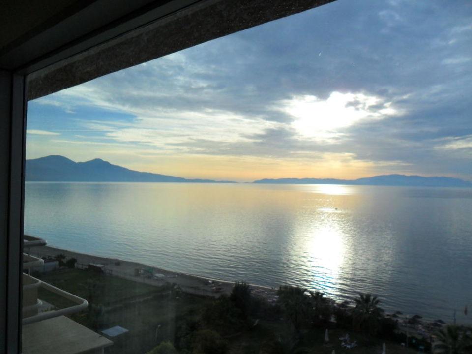 Ausblick vom Familienzimmer im 6. Stock Hotel Ephesia
