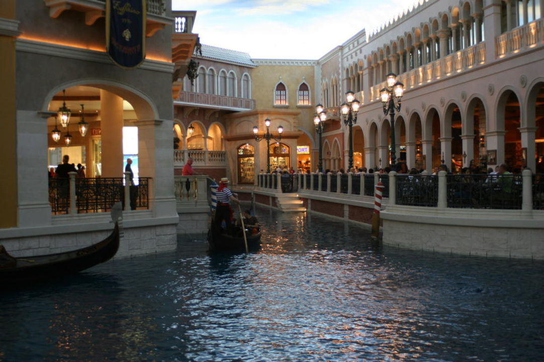 I canali interni come a Venezia The Venetian Resort & Casino
