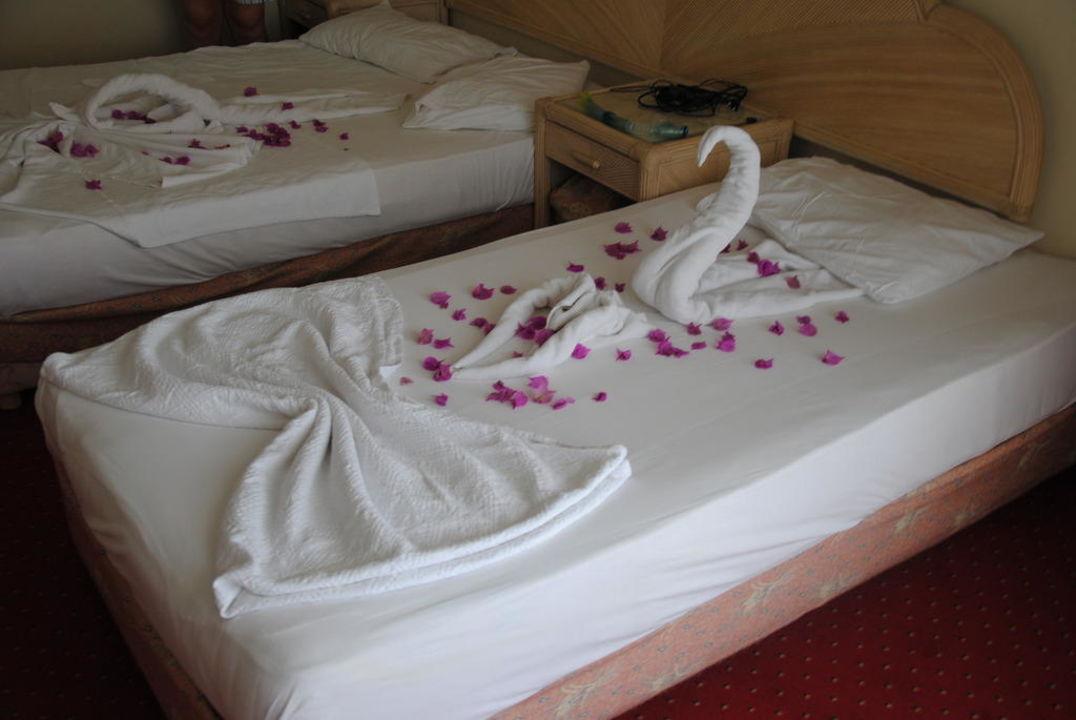 So wurden die Zimmer hergerichtet Aska Hotel Just in Beach