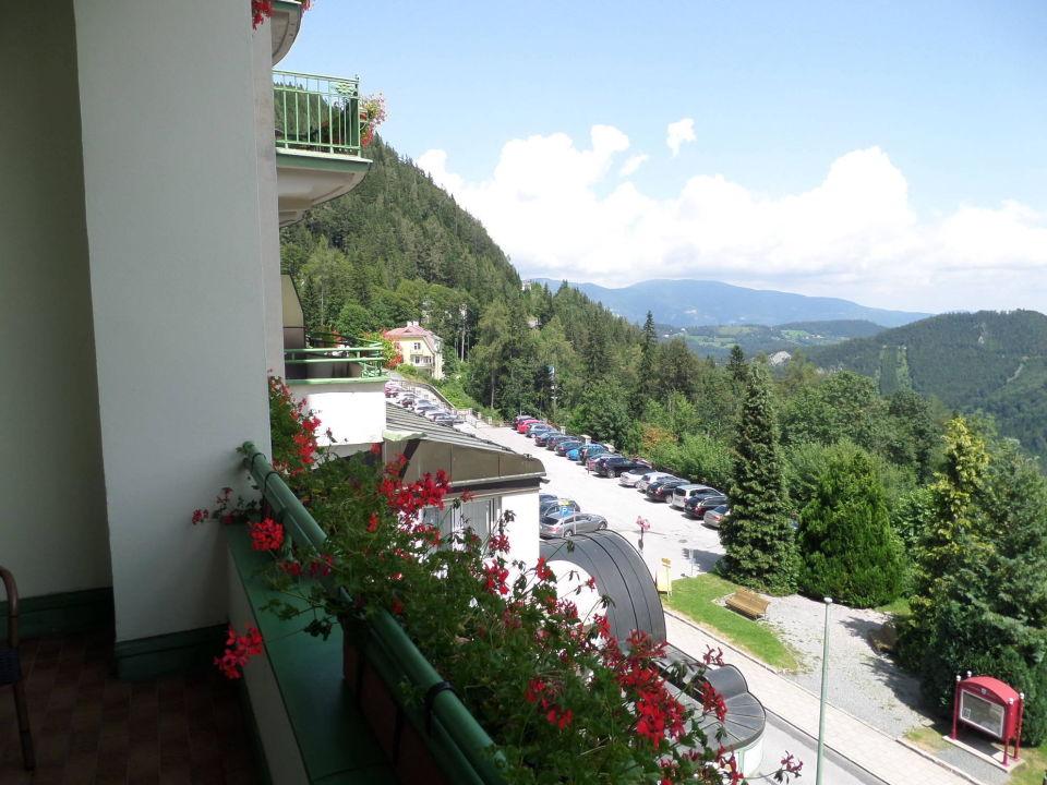 Von unserem Balkon  Hotel Panhans