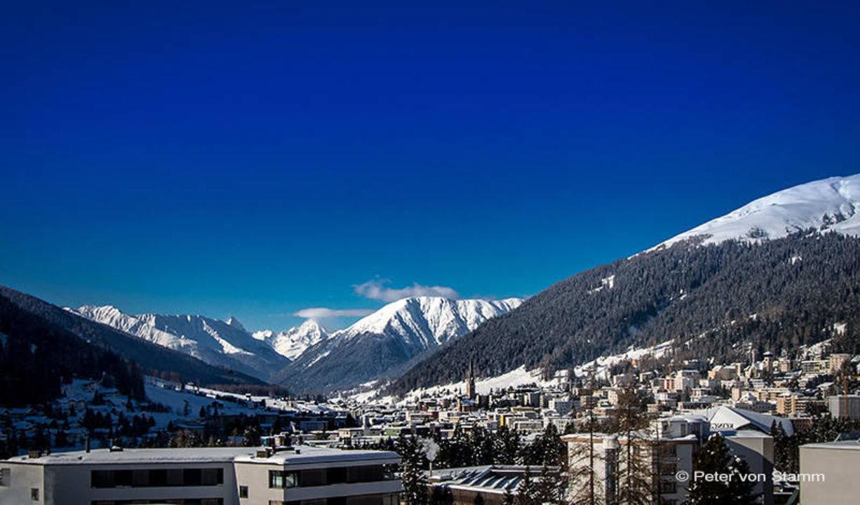 Ausblick von unserem Zimmer auf Davos\