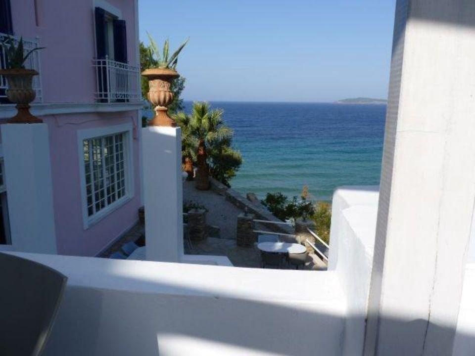 Frühstücksterrasse Hotel Aneroussa Beach