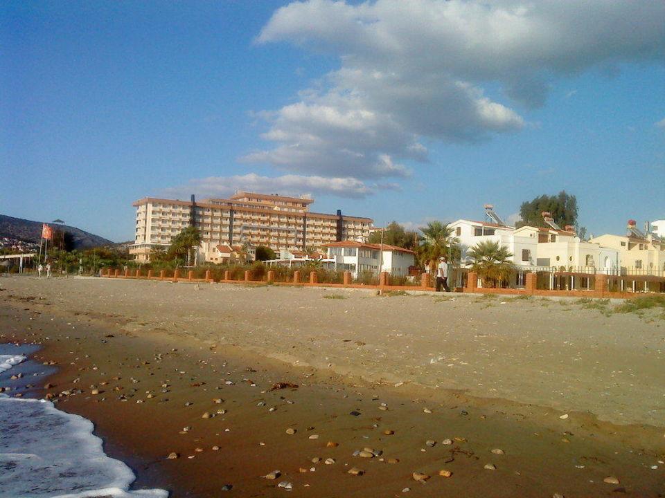 Blick vom Strand Hotel Ephesia