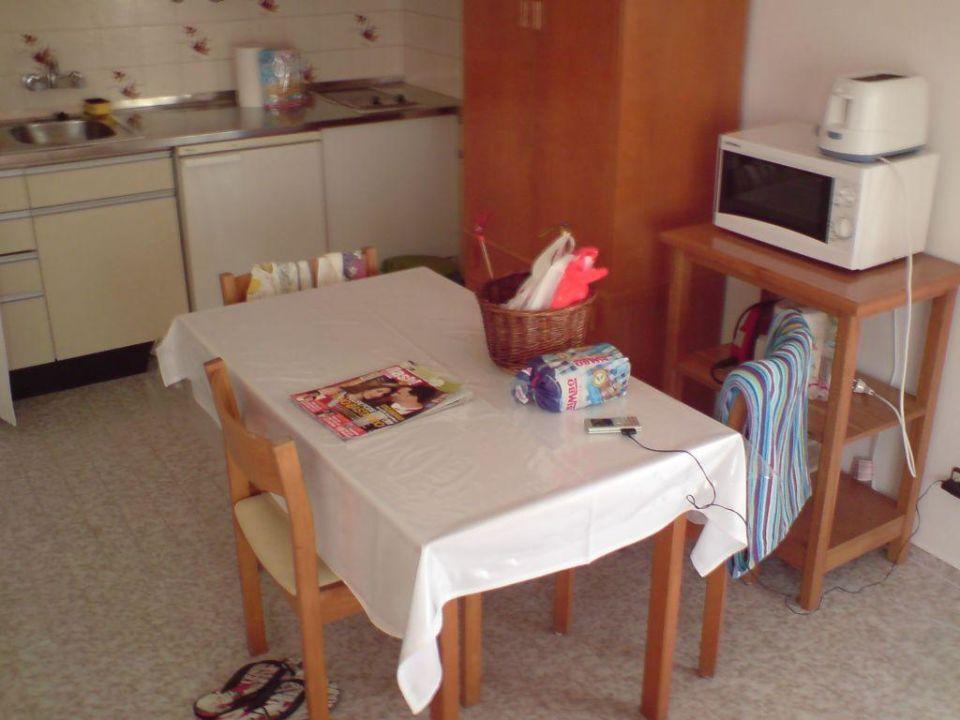 Wohnzimmer Mit Kochnische Aparthotel Novo Rosamar