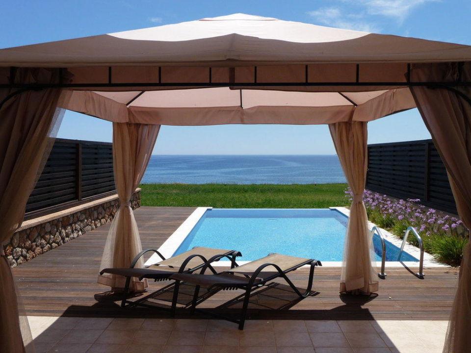 Terrasse mit Meerblick Hotel Al Mare Villas