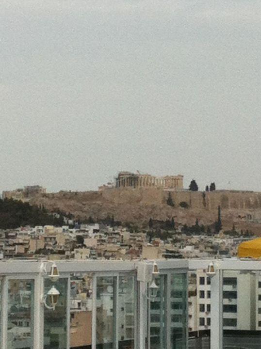 Aussicht vom Dach Grand Hyatt Athens