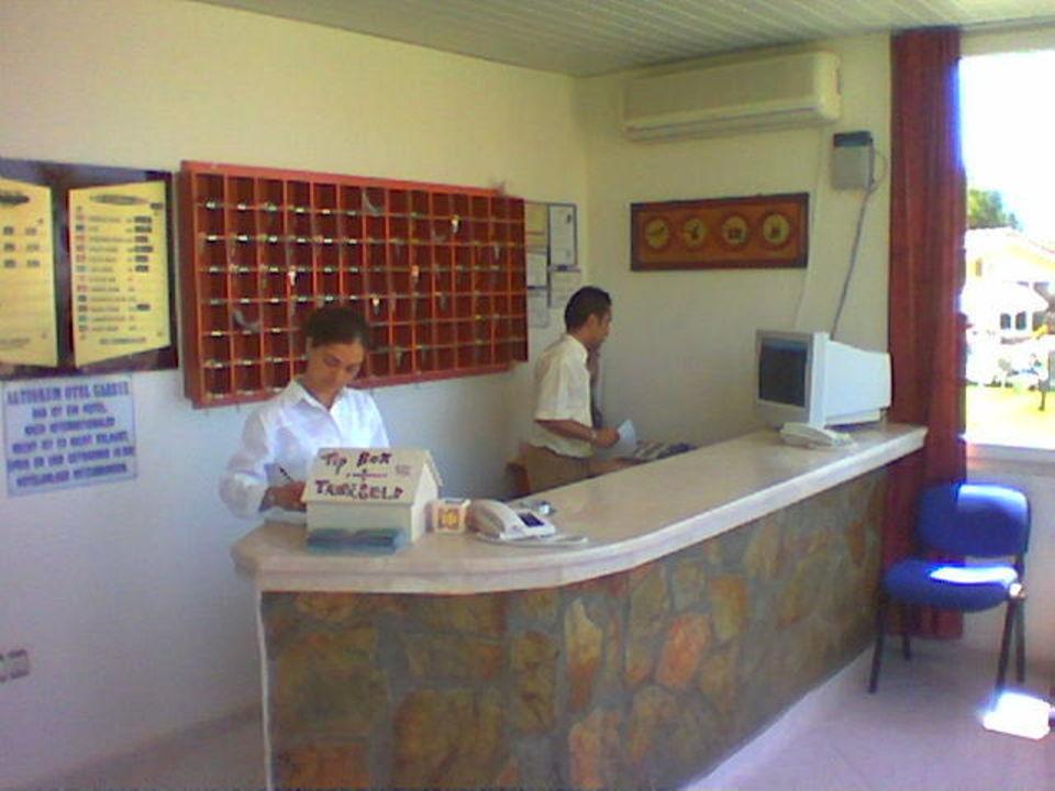 Rezeption Hotel Altinkum Bungalows