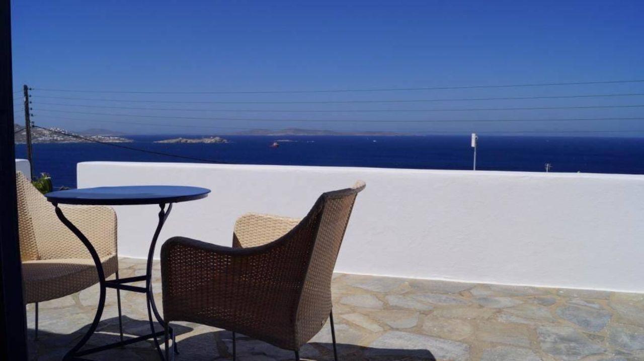 Ausblick von der Zimmerterrasse Hotel Spanelis