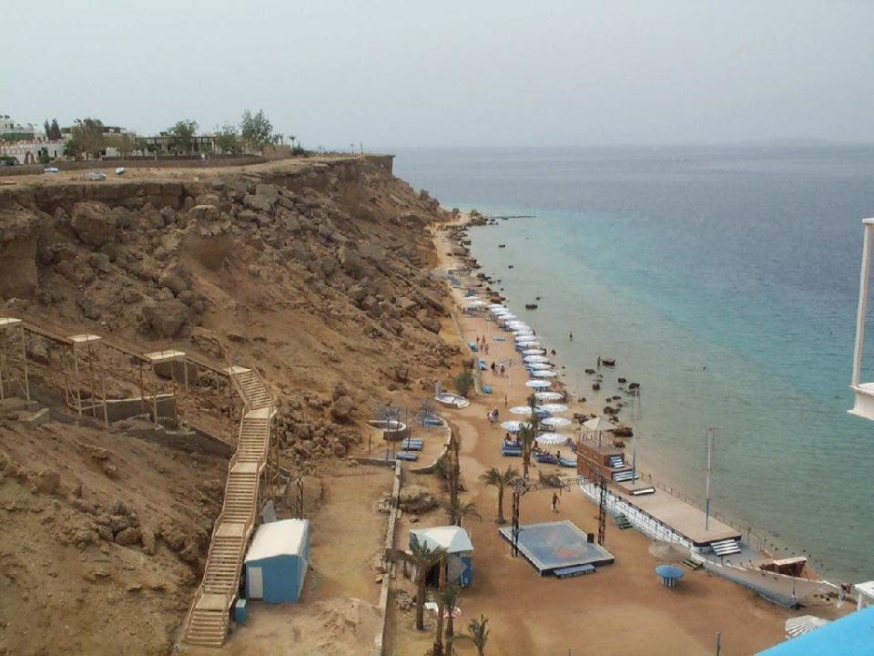 Ausicht vom Lift nach links Beach Albatros Resort Sharm El Sheikh (geschlossen)