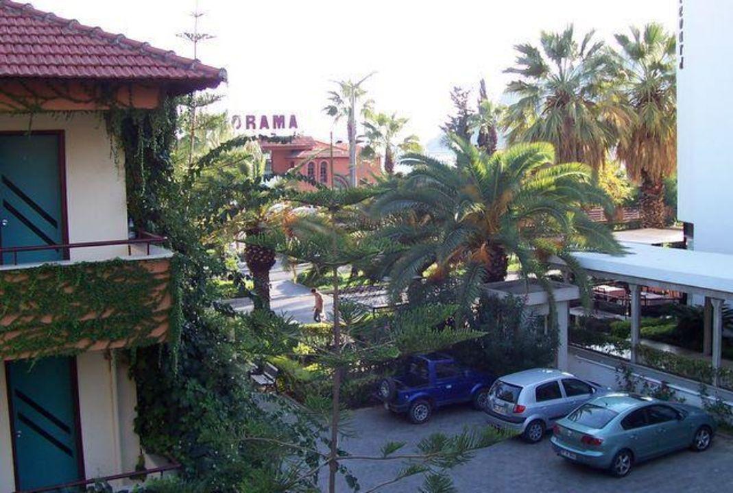 Ausblick von unserem Balkon Hotel Panorama