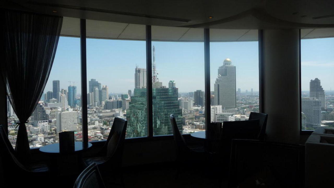 Zimmerausblick 21. Stock Millennium Hilton Bangkok