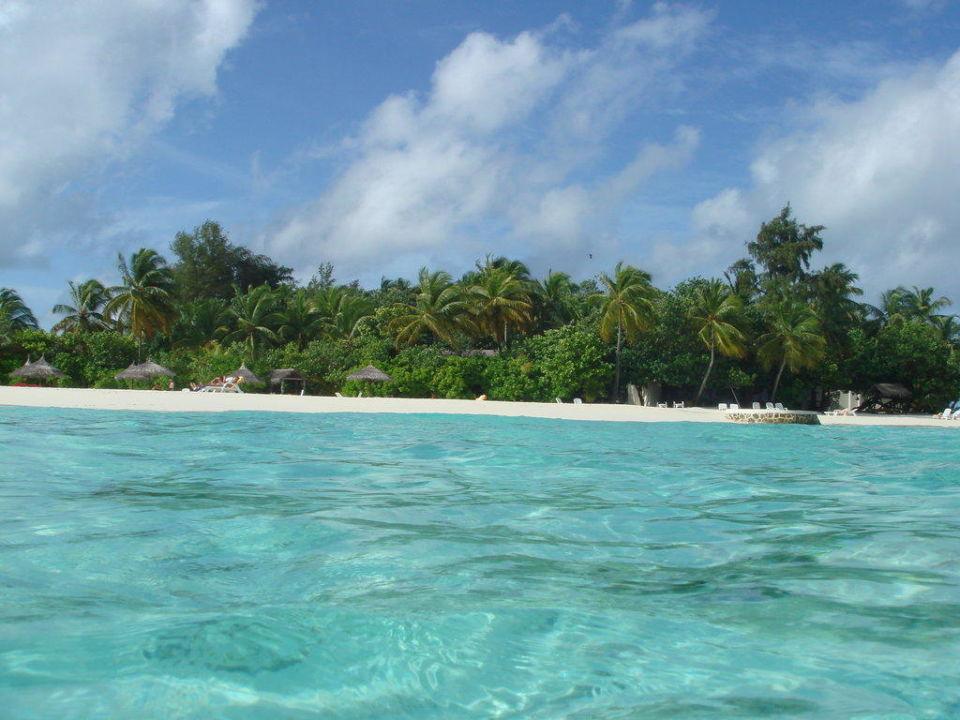Blick zur Insel VOI Maayafushi Resort