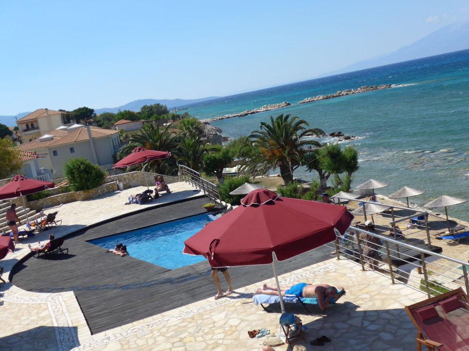 Der Kleine Pool Und Etwas Strand Hotel Tsamis Zante Spa Resort