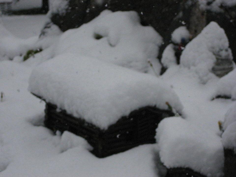 Schnee im September Landhaus Kirchgasser
