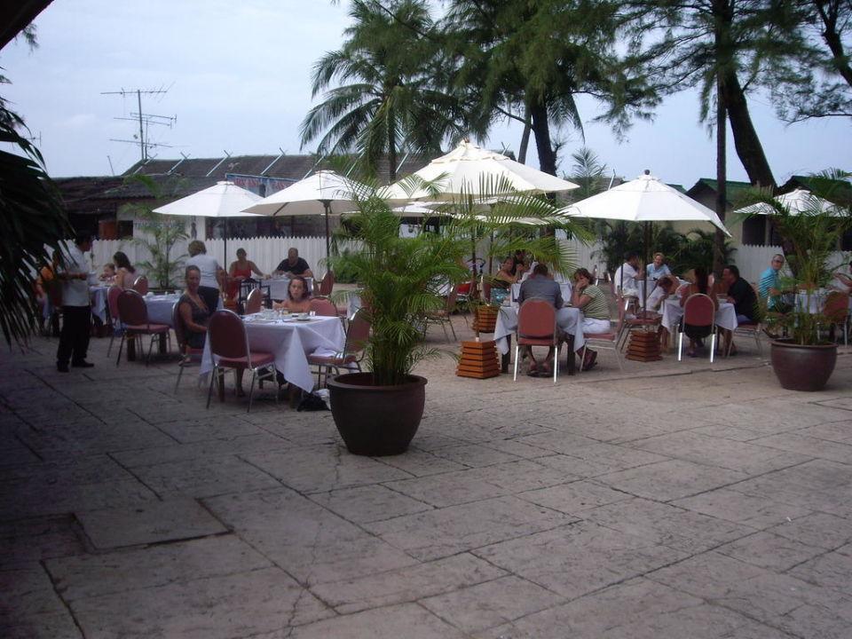 Frühstücksterrasse Hotel Laguna Beach  (geschlossen)
