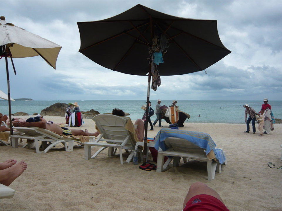 Strandverkäufer The Imperial Samui (Vorgänger-Hotel – existiert nicht mehr)