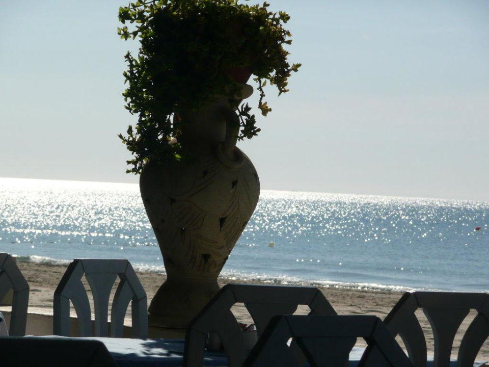Sonnenuntergang vom Restaurant aus gesehen Hotel Eldorador Salammbo