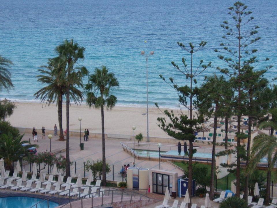 Blick vom Zimmer Hotel Biniamar