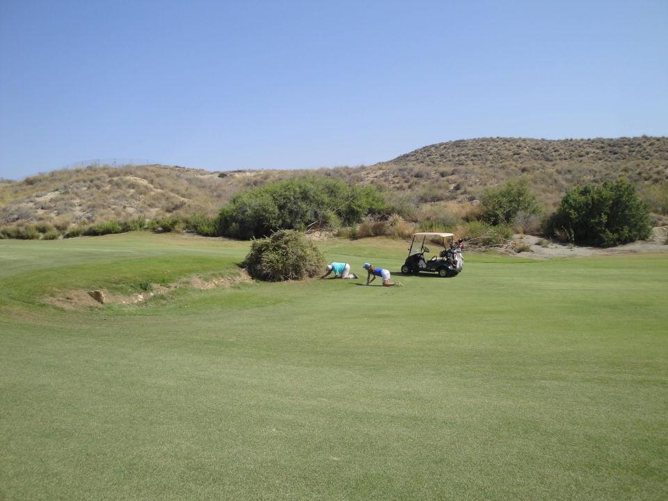 Ballverlust auf Loch 4 Hotel Valle del Este Golf Spa