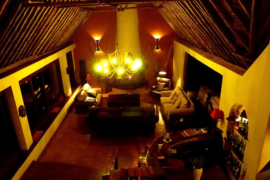 Blick von der Empore - gigantisch Tawi Lodge