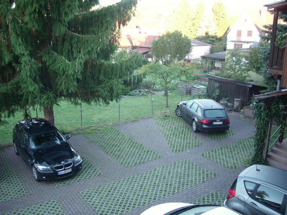 Blick aus dem Zimmer Landgasthof Zum Hirsch