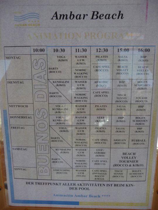 Sportprogramm Hotel Ambar Beach
