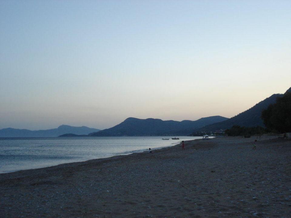 Strand am Abend Hotel Maria