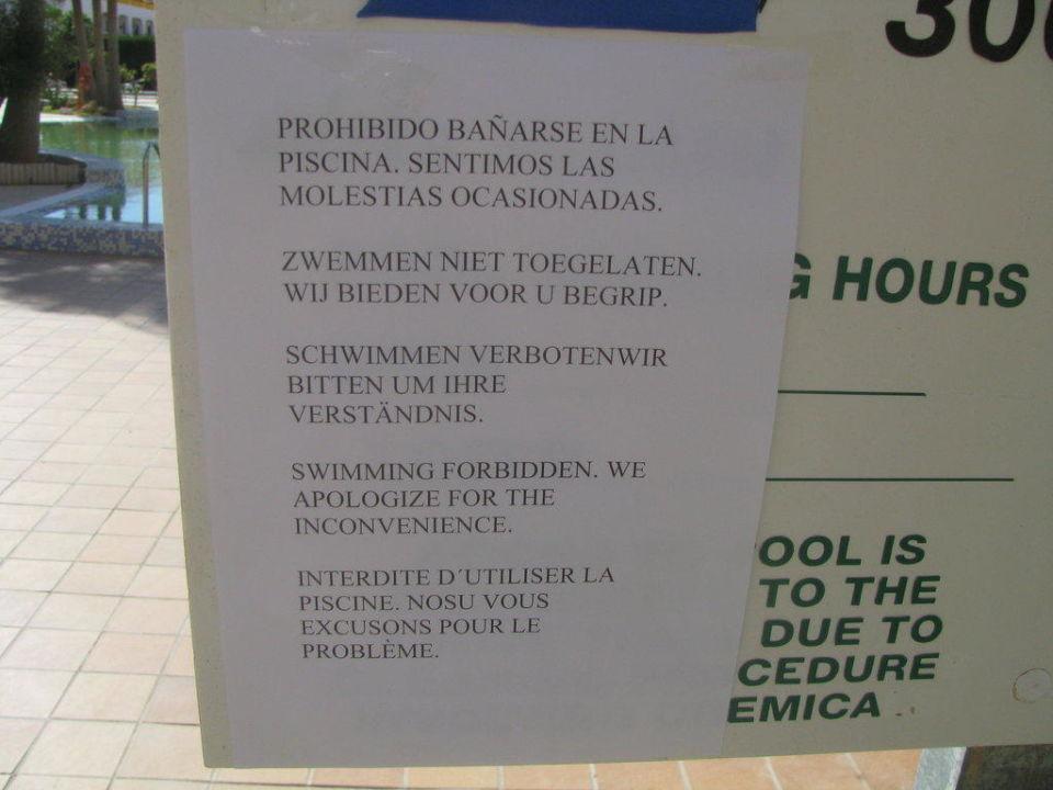 Warnung der Hotelleitung Aparthotel Arena Center