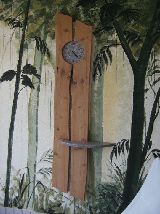 Uhr im Wellnessbereich Hotel Alpen Tesitin