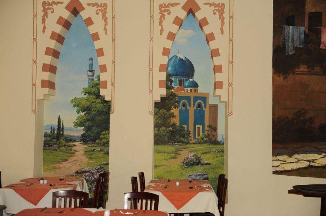 Aladin Restaurant mit wunderbarer Wandmalerei Tia Heights Makadi Bay