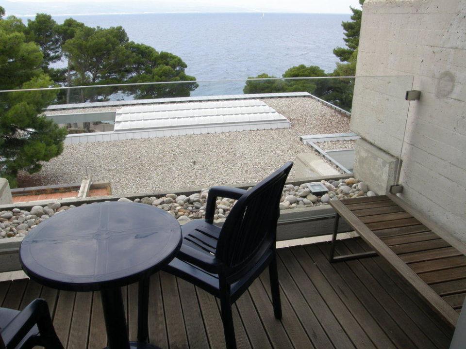 Balkon mit Meerblick Bluesun Hotel Soline
