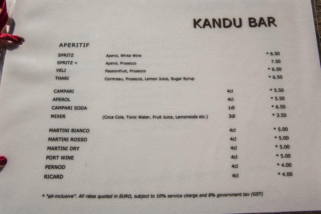 Getr 228 nkekarte getr 228 nkepreise all inclusive gangehi island resort