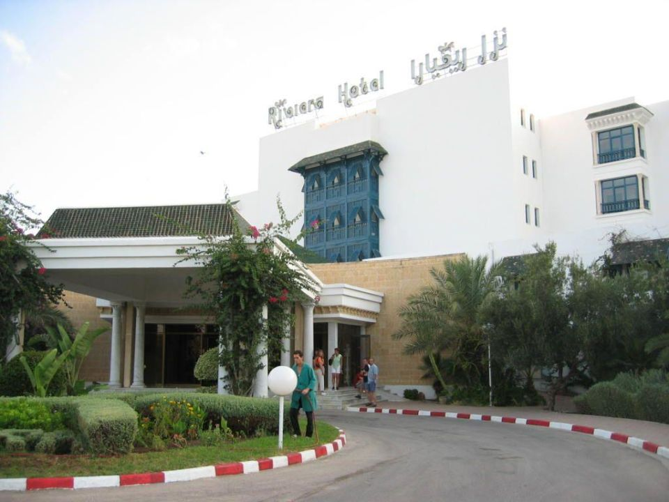 Auffahrt zum Hoteleingang Hotel Riviera