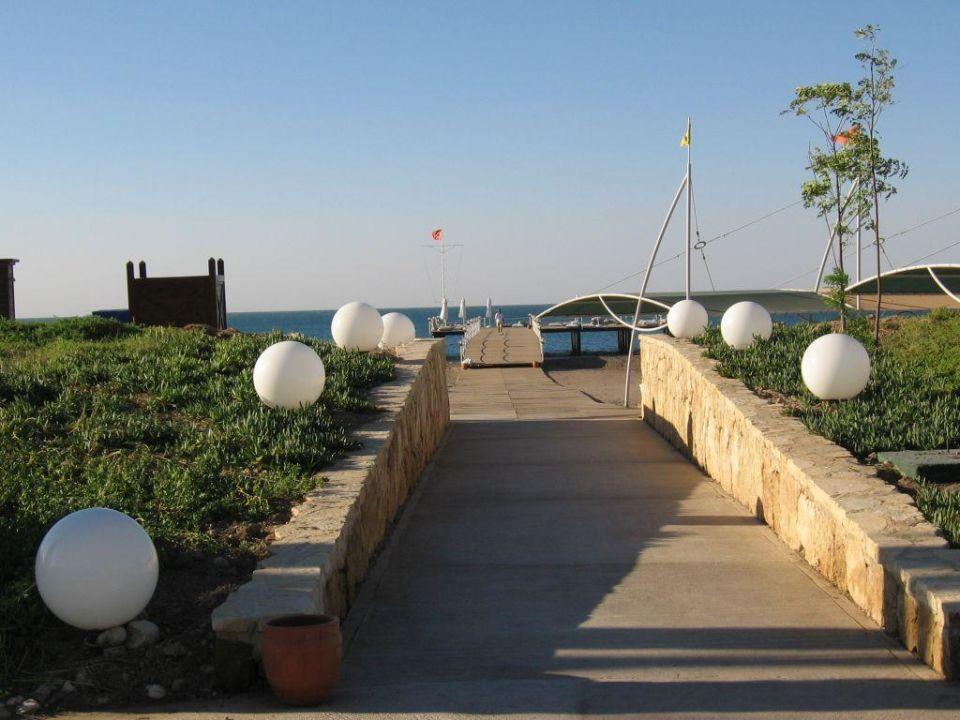 Blick in Richtung Strandterrasse Hotel Concorde De Luxe Resort