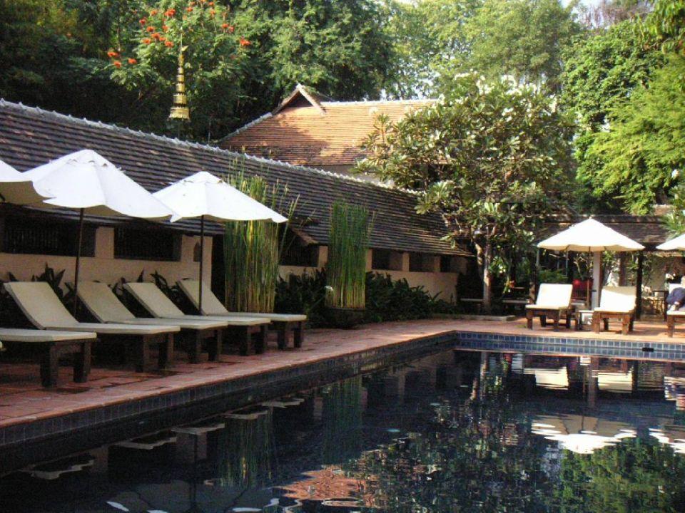 Tamarind: Abendstimmung an der Rezeption Hotel Tamarind Village
