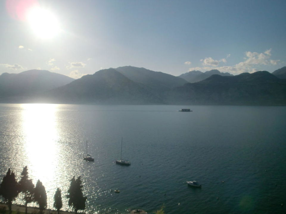 Ausblick vom Balkon des Hotelzimmers Hotel Garni Casa Alessandra