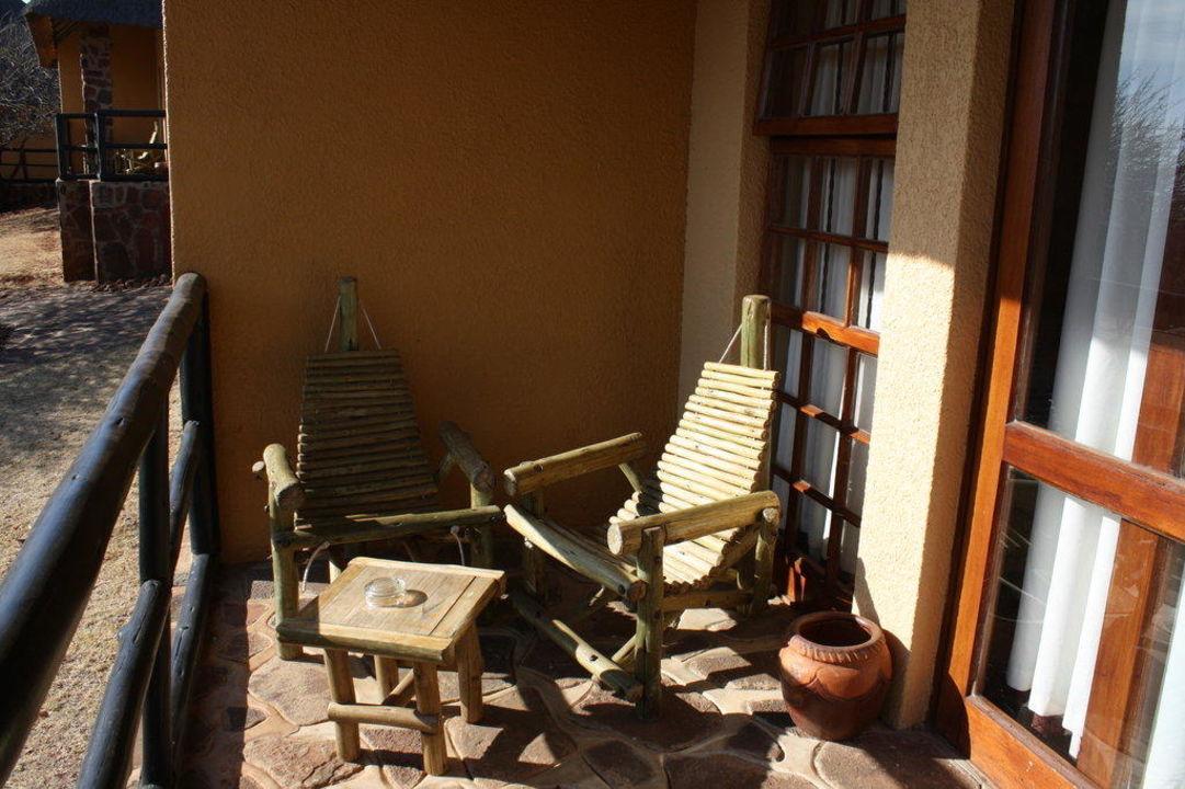 Terrasse beim Zimmer Hotel Hannah Lodge