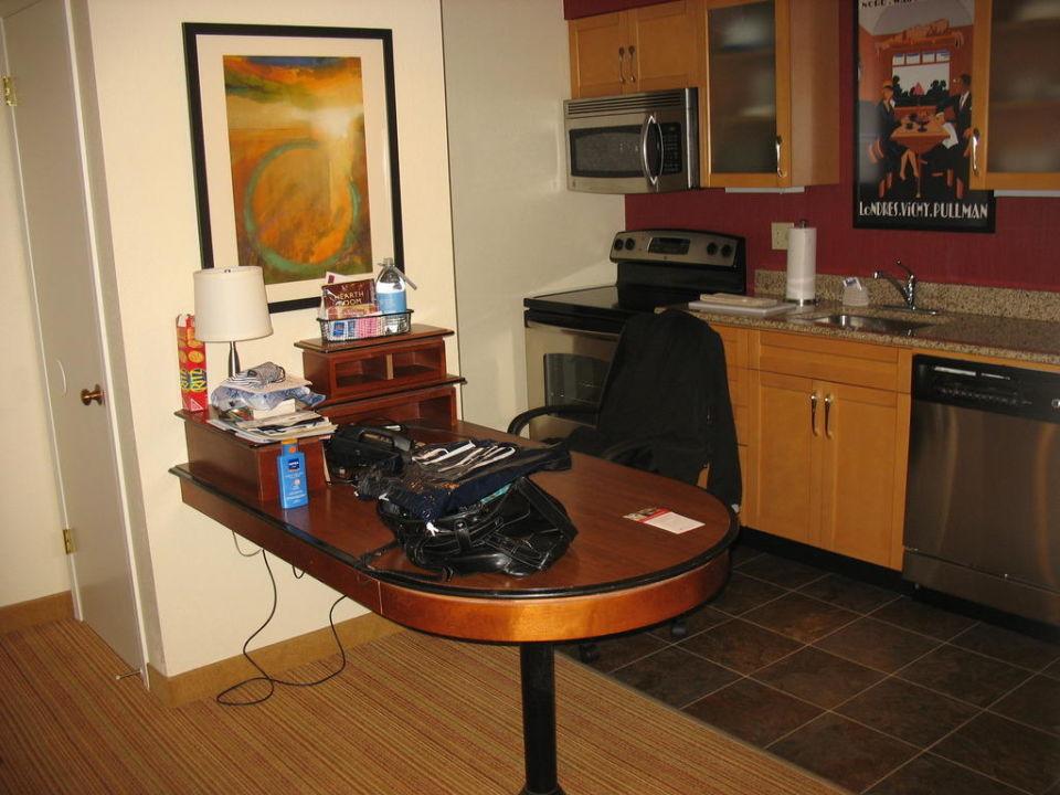Küche / Schreibtisch Hotel Residence Inn By Marriott La Jolla
