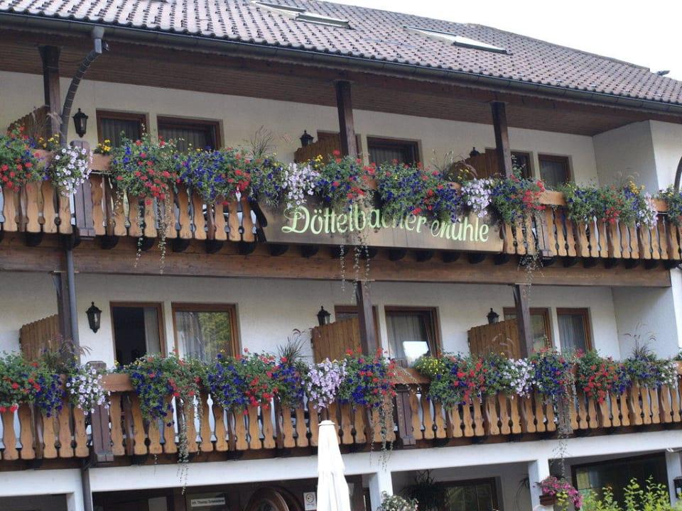 Vorm Eingang Hotel Döttelbacher Mühle